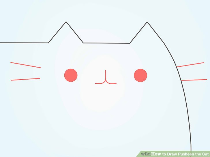 728x546 How To Draw Pusheen The Cat 9 Steps (With Pictures)