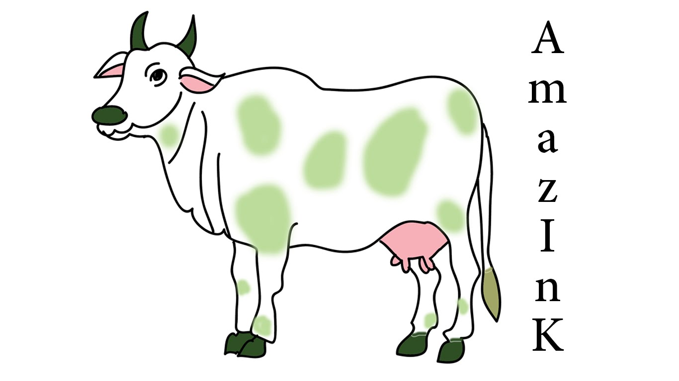 1366x768 Learn How To Draw Cow