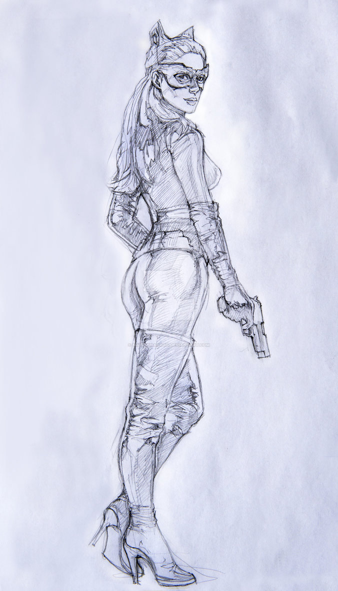 676x1182 Anne Hathaway As Catwoman By Miltonnakata
