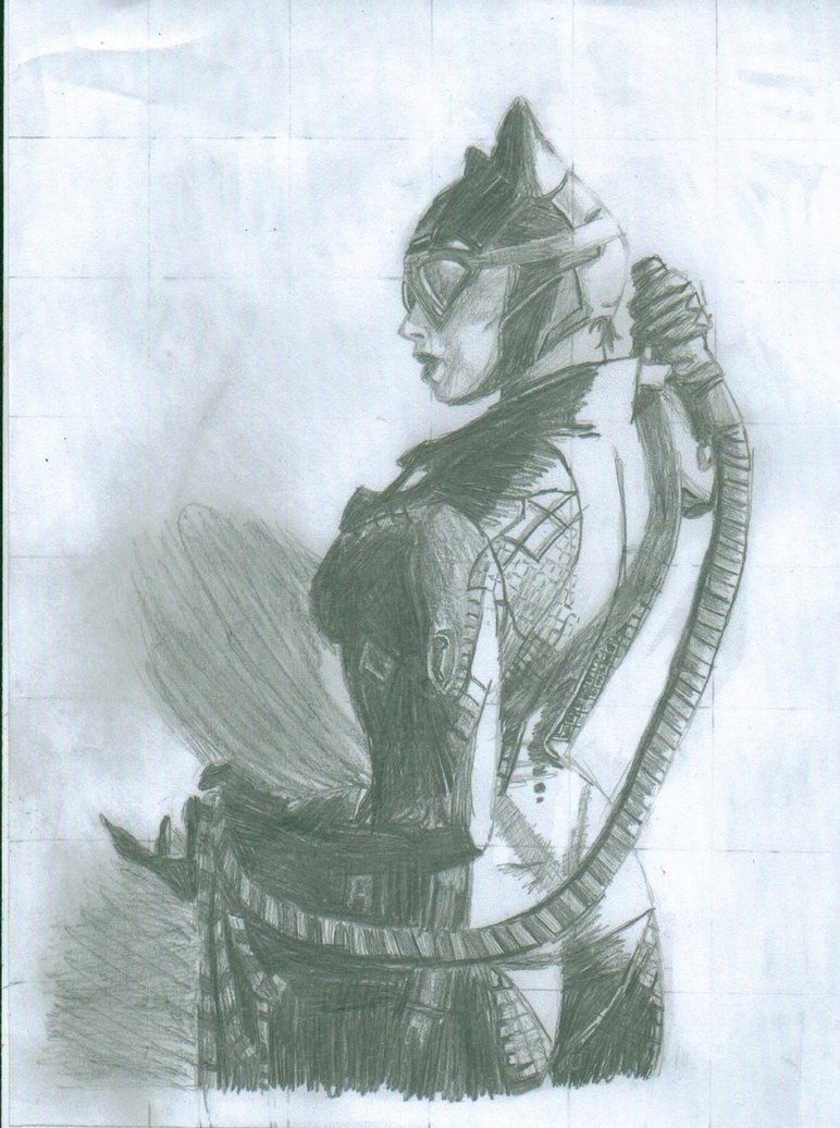 772x1036 Catwoman Drawing 1 By Cbish2424