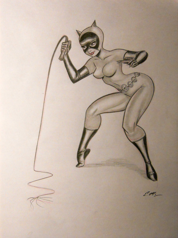 600x804 Catwoman Pencil Sketch By Em Scribbles