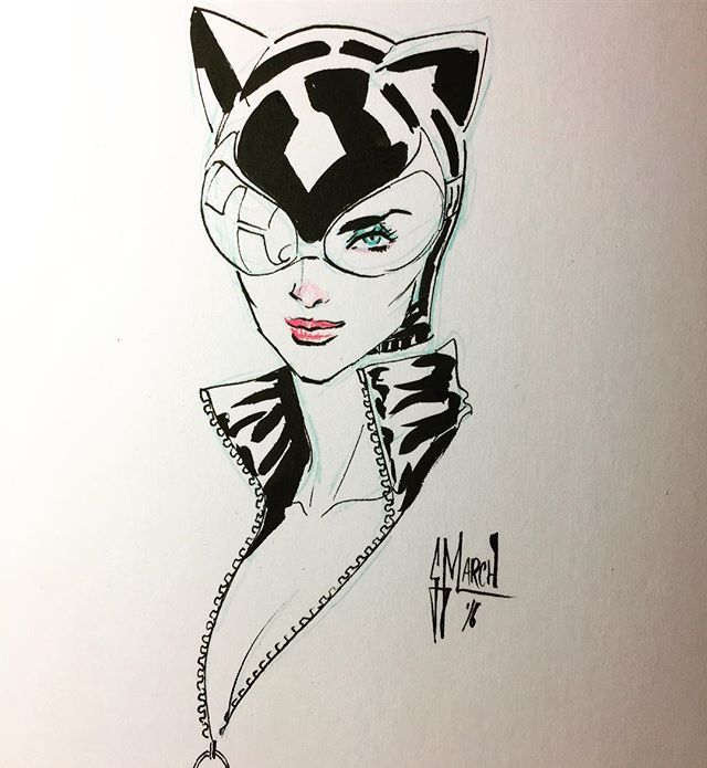 640x695 Catwoman By Guillem March Cats March, Fanart And Comic
