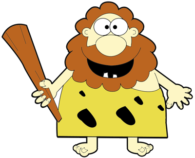 400x324 How To Draw Cartoon Caveman With A Club In Easy Steps Lesson