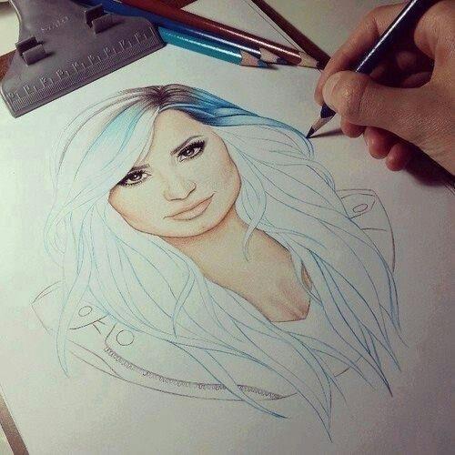 500x500 Demi Lovato, Demi Lovato Drawing, Celebrity Drawing, Art Art