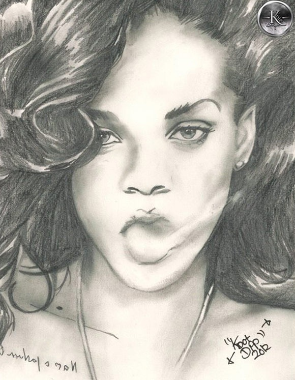 580x747 Realistic And Awesome Celebrity Drawings Inspiracje