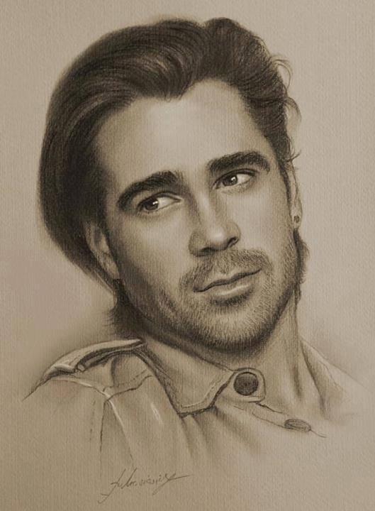 529x720 Wonderful Hollywood Celebrity Portrait Drawings By Krzysztof