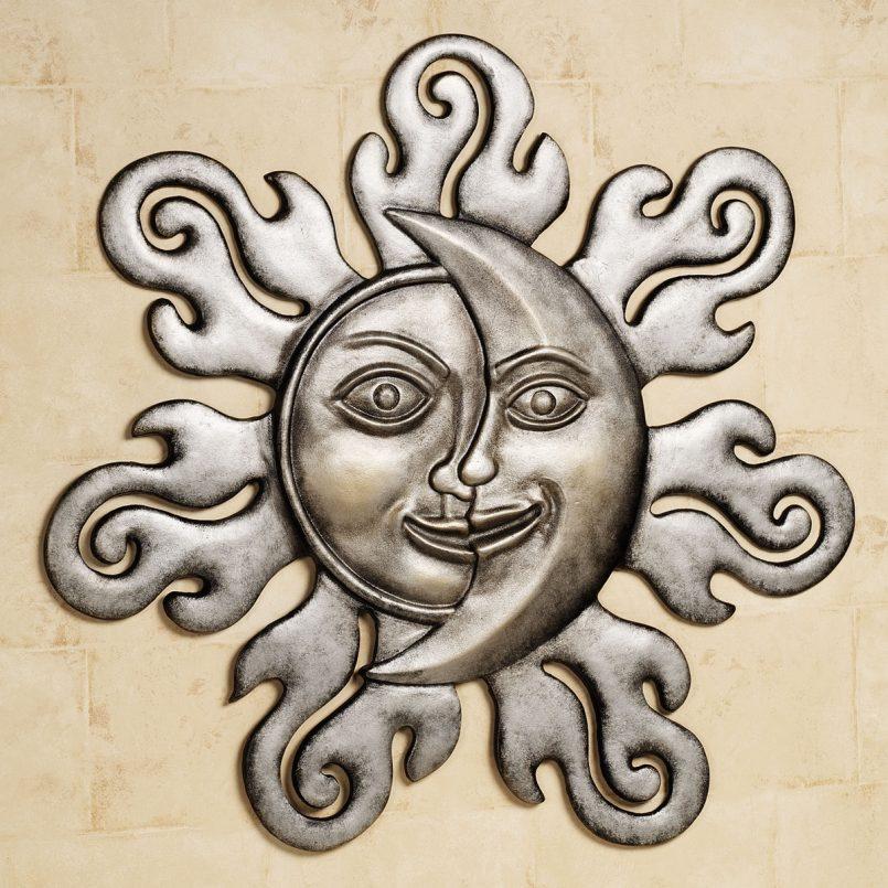 805x805 Colors Outdoor Metal Wall Art Sun Moon Also Mexican Sun