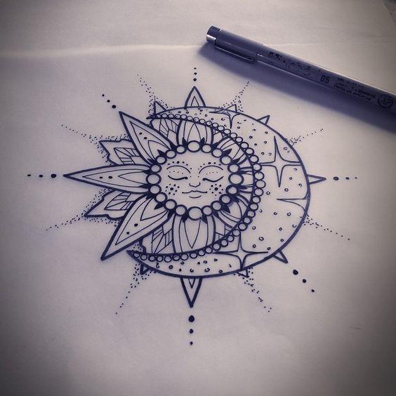564x564 Tat Cards Celestial Tattoo A Tattoo Traditional Google Sun Moon
