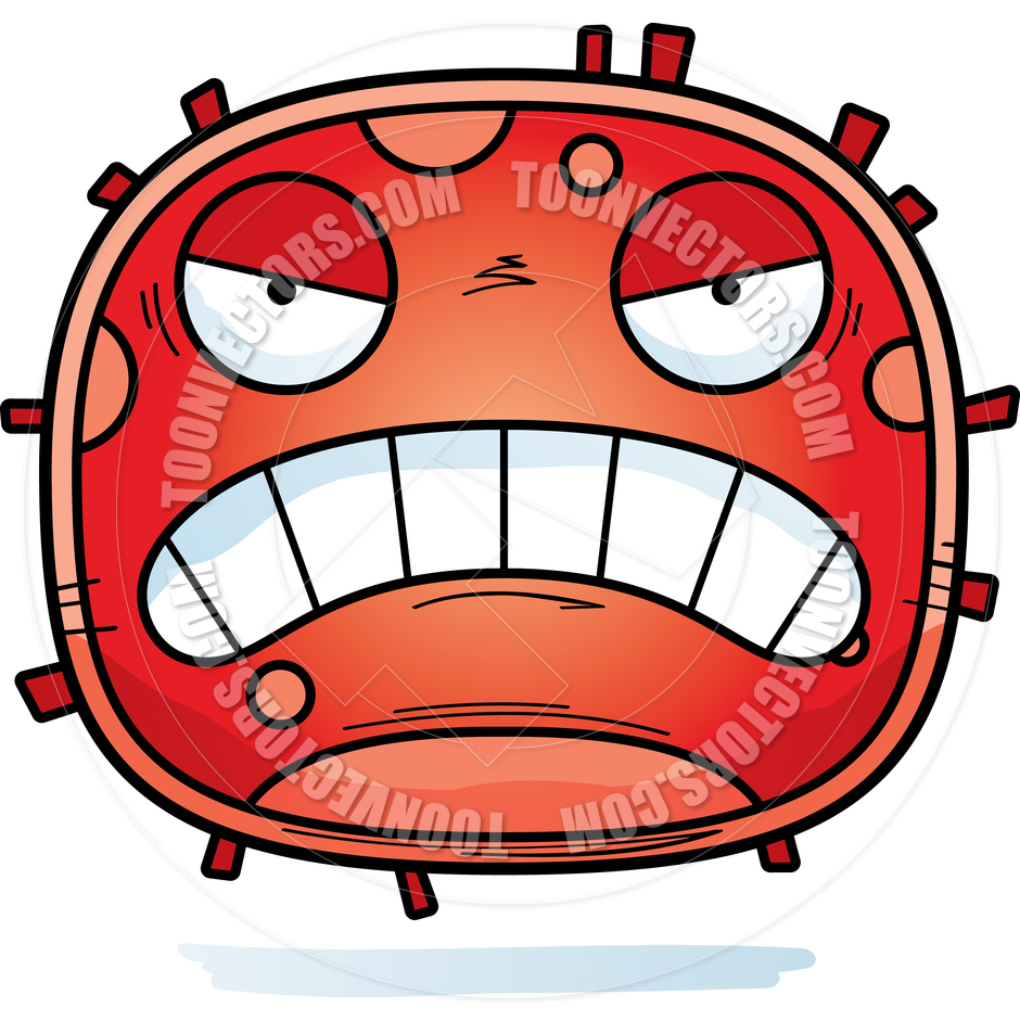 940x940 Cartoon Red Blood Cell Angry By Cory Thoman Toon Vectors Eps