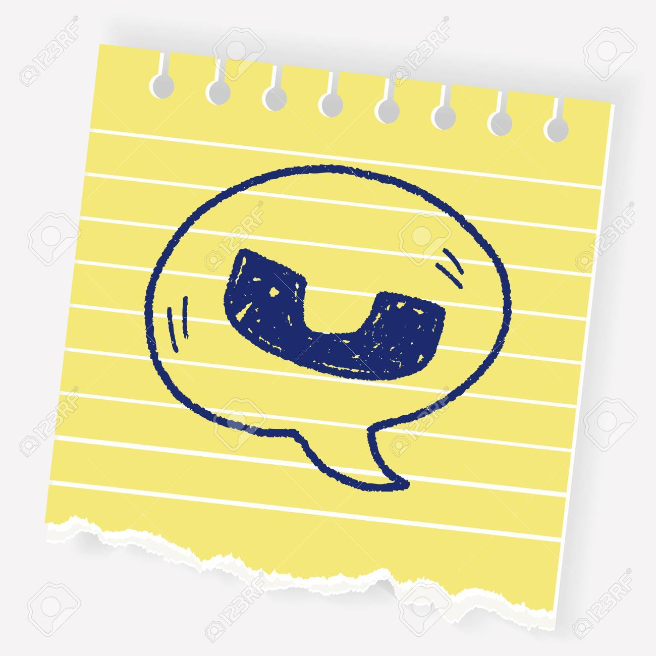 1300x1300 Cell Phone Message Doodle Drawing Royalty Free Cliparts, Vectors