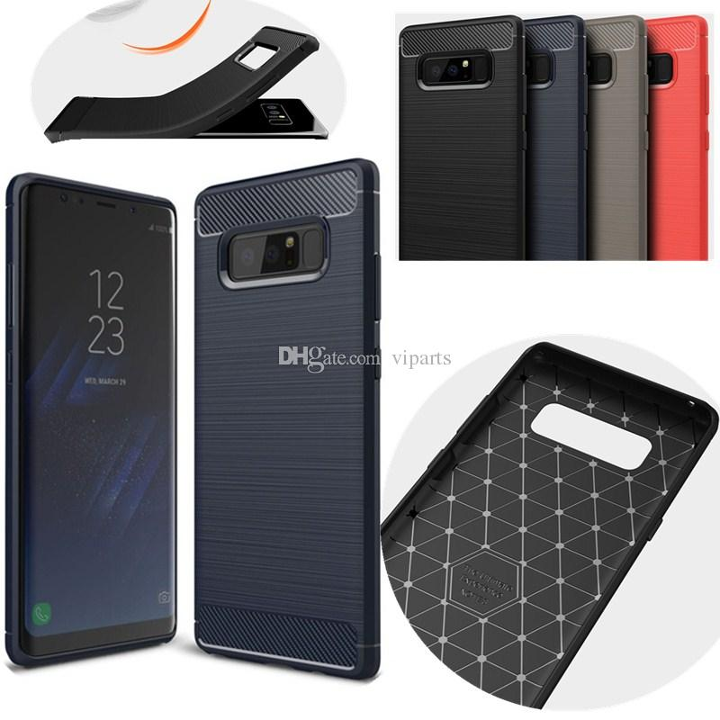 800x800 Carbon Fiber Textured Brushed Drawing Case For Samsung Galaxy Note