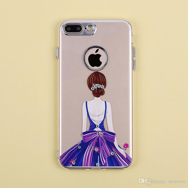 800x800 Cartoon Pattern Coloured Drawing Clear Cell Phone Cases For Apple