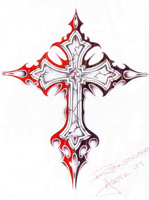 571x768 How To Draw A Cross Step By Step