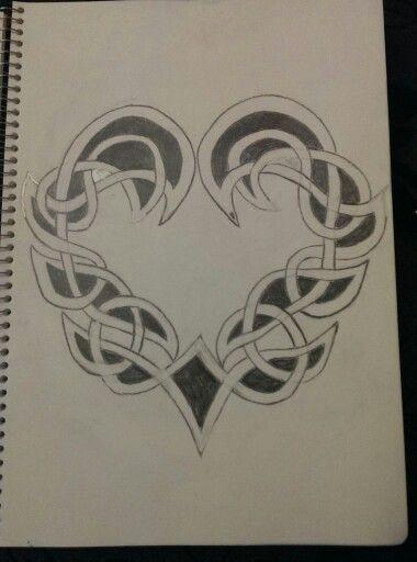 380x512 Celtic Heart My Celtic Drawings Celtic Heart