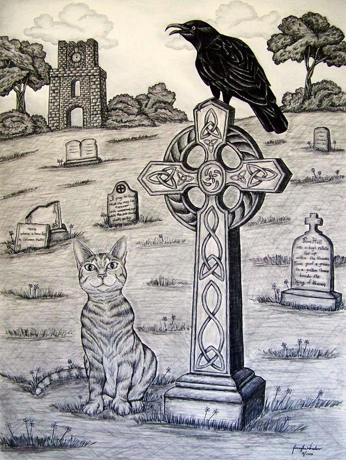 678x900 Cemetery Drawing By Jennifer Foslien Wheeler