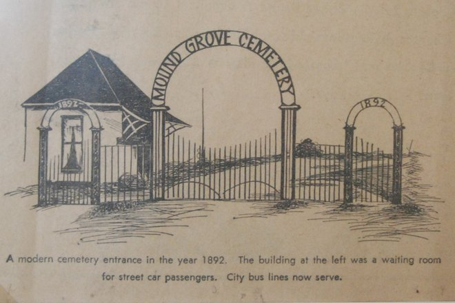 660x440 Grove Cemetery Old Entrance (Drawing)