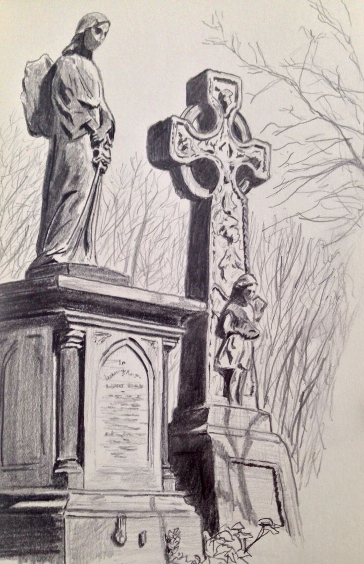 734x1136 Tower Hamlets Cemetery Sketch Drawing My Drawings
