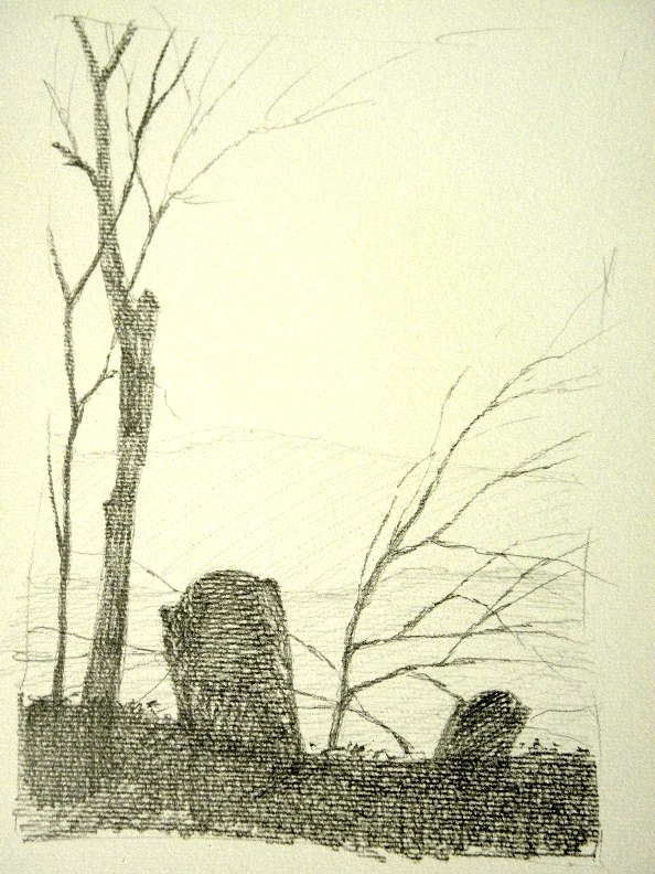 594x792 Bosbyshell Art Studio Drawings Of An Old Cemetery