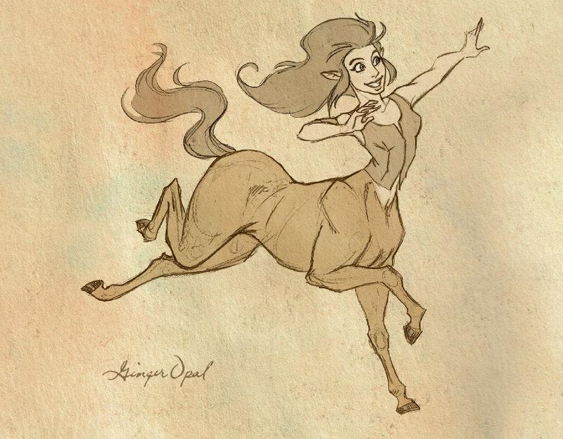 800x623 Centaur Girl By Gingeropal