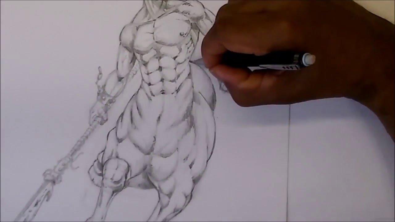 1280x720 Demon Centaur Warrior Speed Drawing