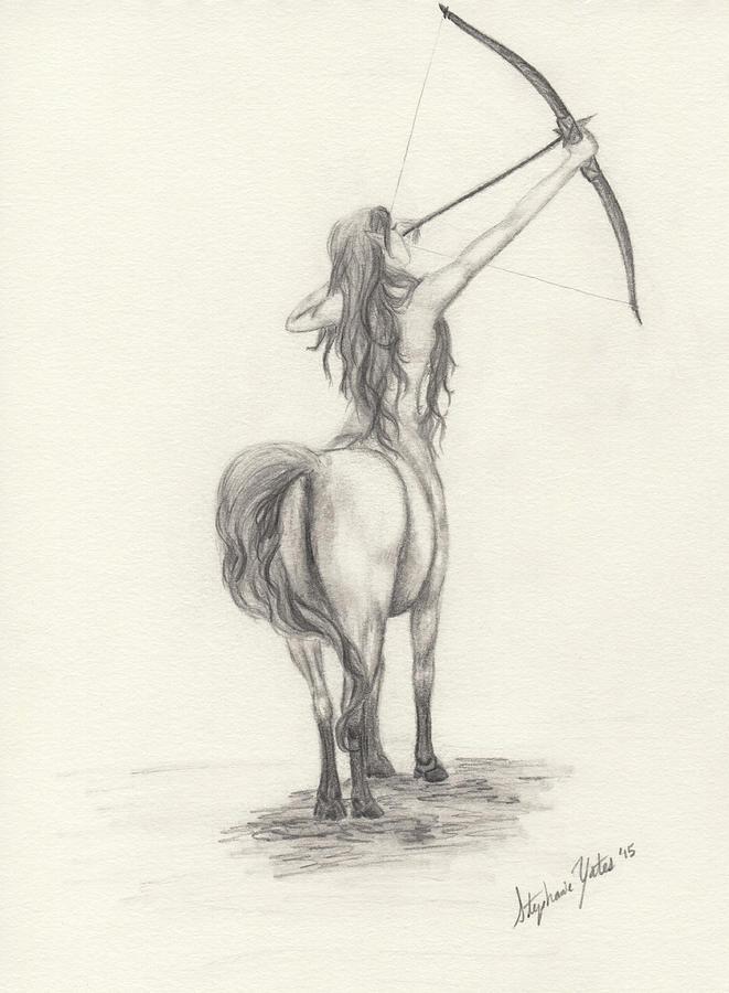 661x900 Female Centaur Drawing By Stephanie Yates