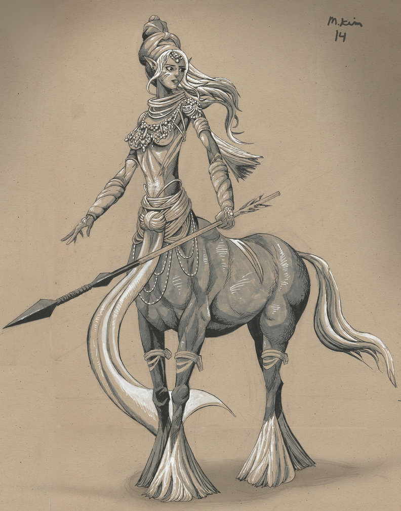 792x1009 Female Centaur Drawing By Mikekimart