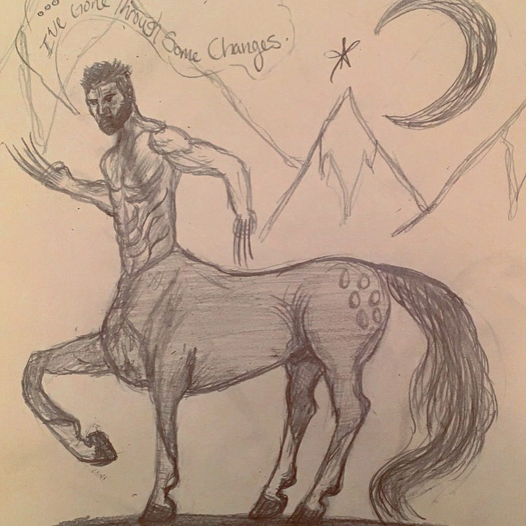 750x750 Mythical Beast Wars The Centaur Drawing