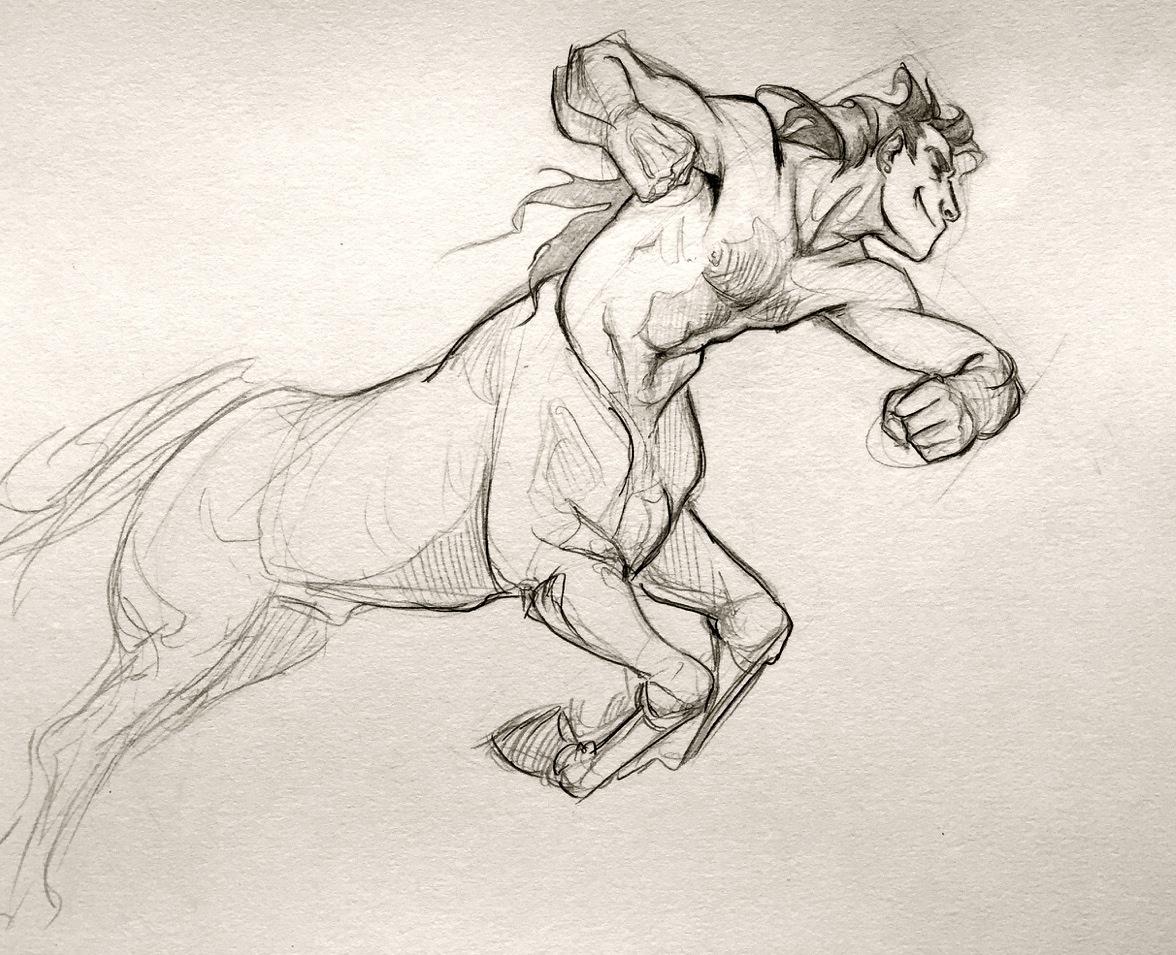 1176x955 Centaur Drawing Tumblr