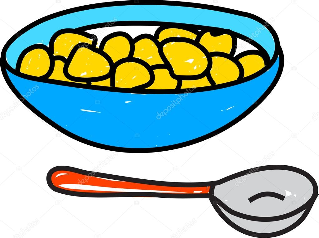 1023x763 Cartoon Drawing Of A Bowl Of Cereal Stock Vector Prawny