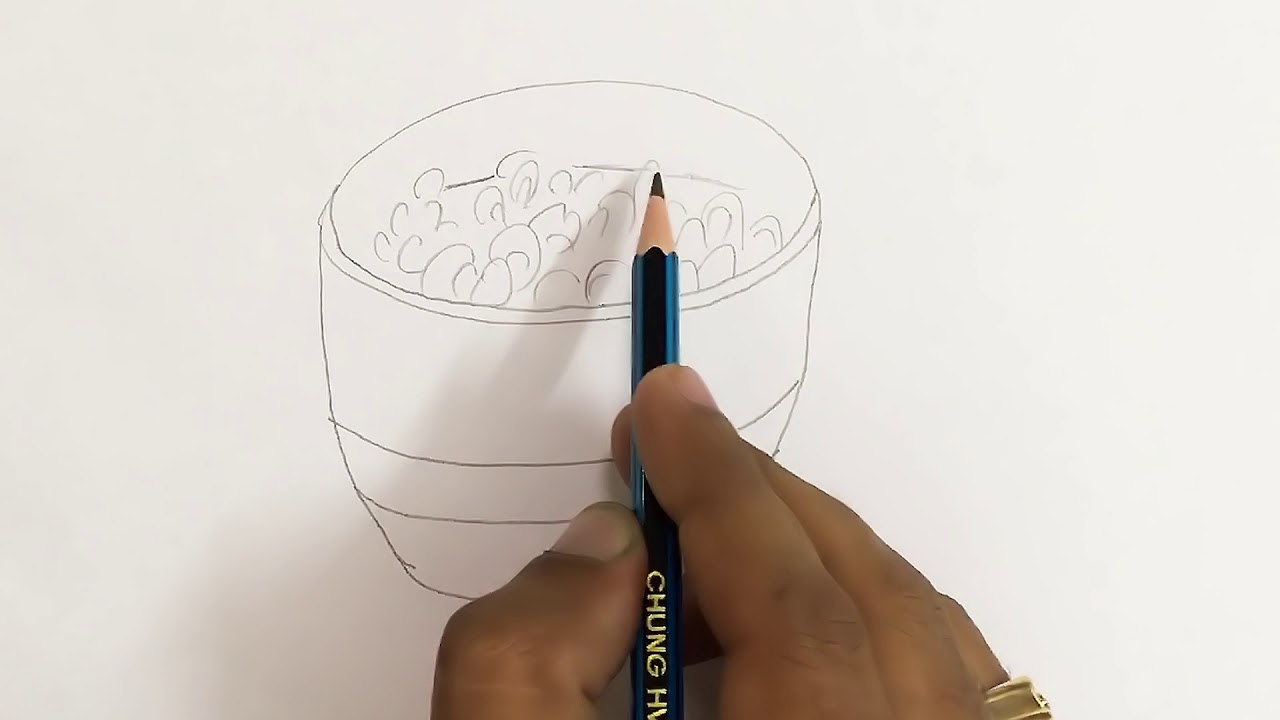 1280x720 How To Draw Cereal Bowl Step By Step
