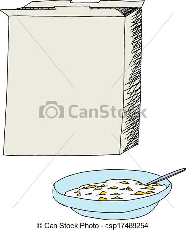 379x470 Open Cereal Box And Bowl. Open Cereal Box With Bowl Of Corn