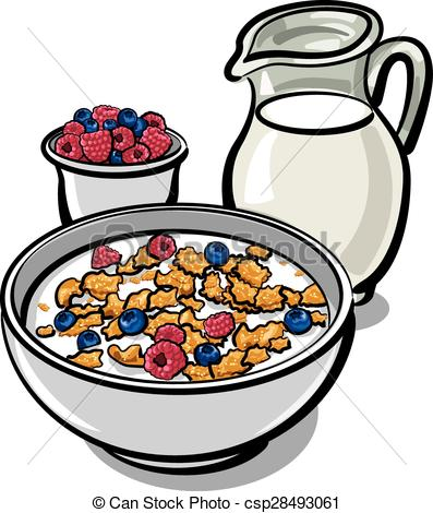 397x470 Cereals And Milk. Healthy Breakfast With Cereal And Milk Clip