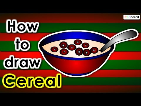 480x360 How To Draw Cereal Step By Step How To Draw Cereal For Kids