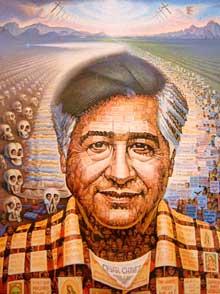 220x294 Cesar Chavez Painting Chicano Style Cesar Chavez