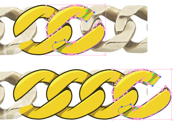 568x403 Create A Gold Chain Pattern Brush With Illustrator
