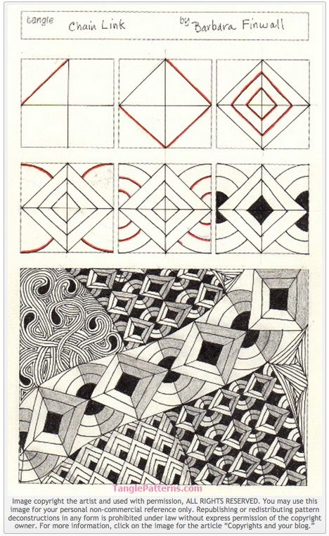 468x762 How To Draw Chain Link My Patterns