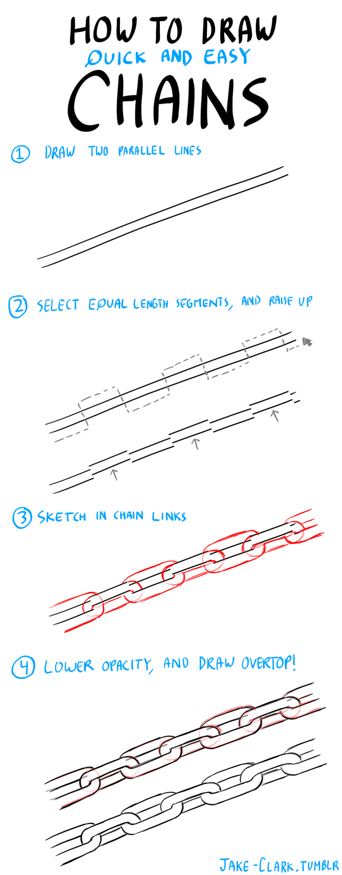 704x1800 How To Draw Chains
