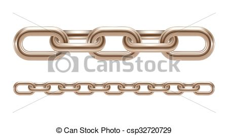 450x267 Metal Chain Links Vector Illustration Isolated On White Vector