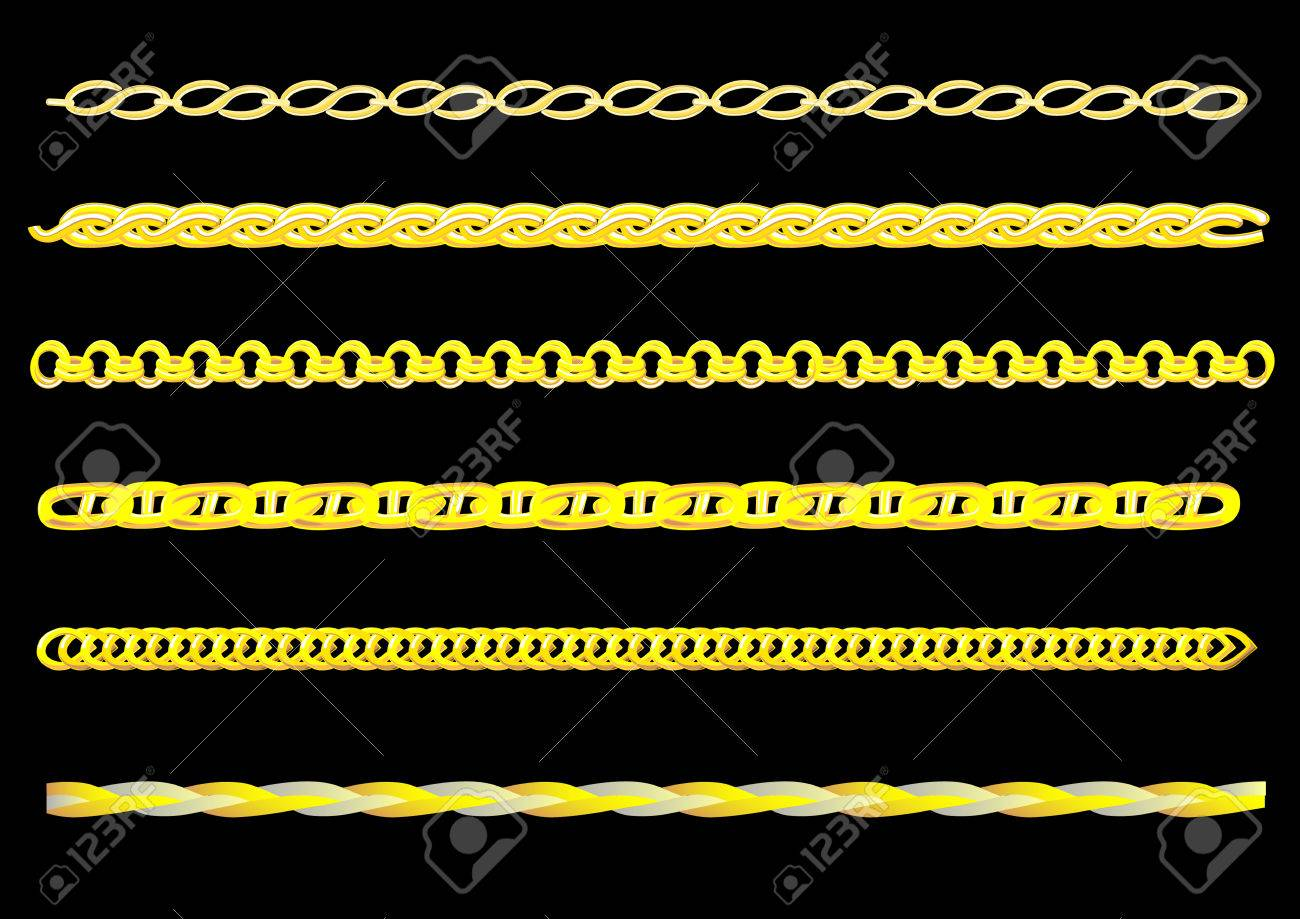1300x919 Vector Drawing Links Gold Chain. You Can Create A Chain