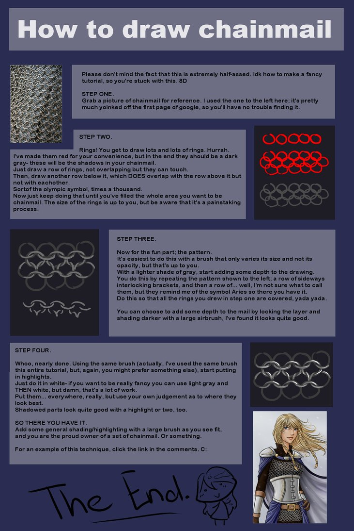 731x1094 How To Draw Chainmail By Shin Ai