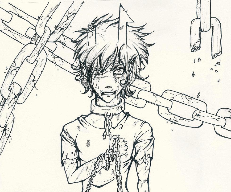 980x815 Broken Chains Sketch By Dreaminghero