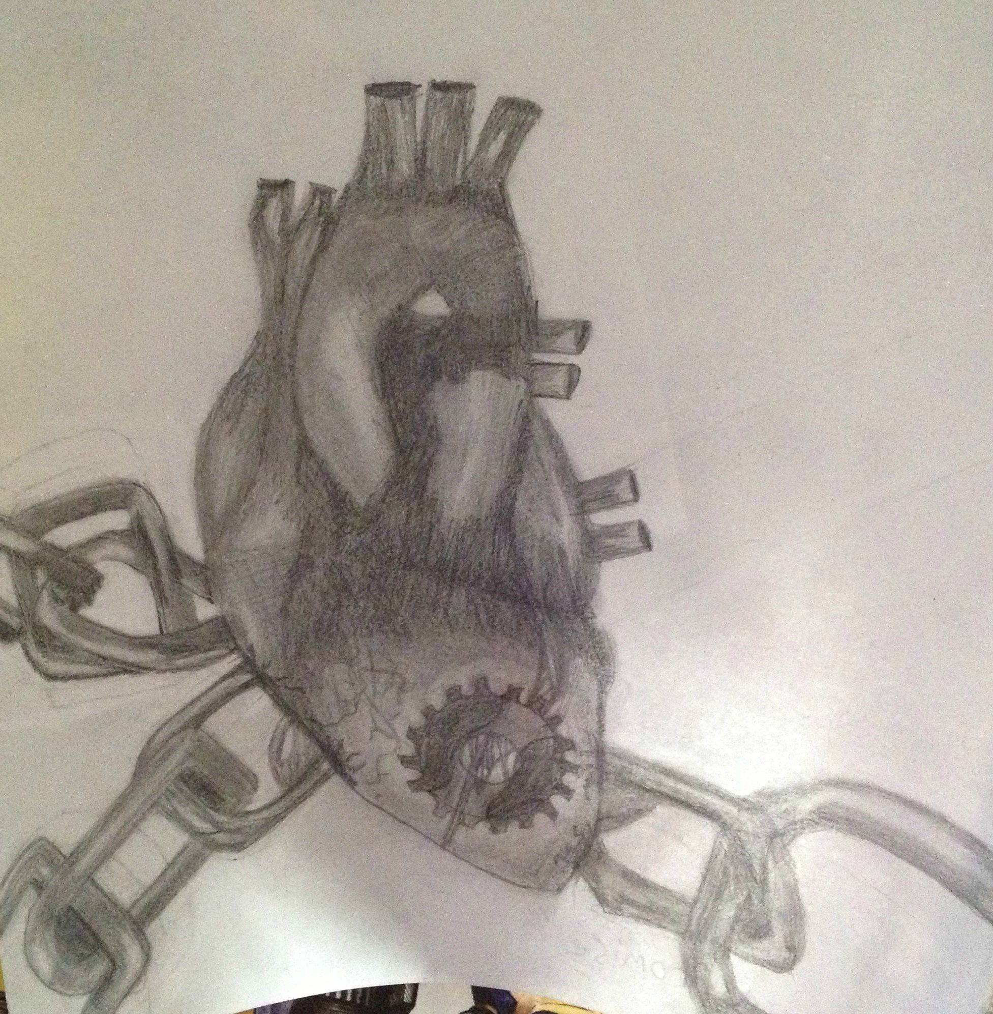 1953x1993 My Friend Courtney's Drawing Of A Heart Bound In Chains