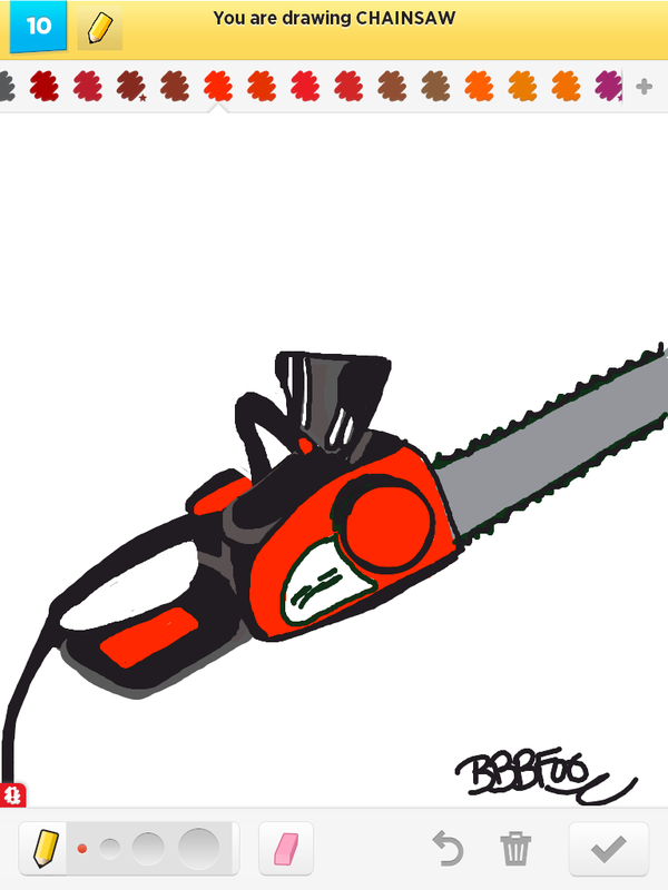 600x800 Draw Chainsaw