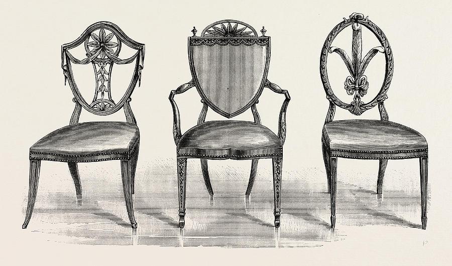 900x529 Chairs, 1789. Uk, Britain, British, Europe Drawing By George