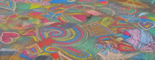 660x255 Chalk Drawing Tips Drawing On Earth Chalk Drawing, Street