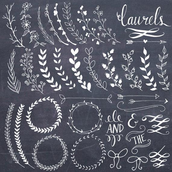 570x570 Clip Art Chalkboard Laurels Amp Wreaths Clipart Photoshop