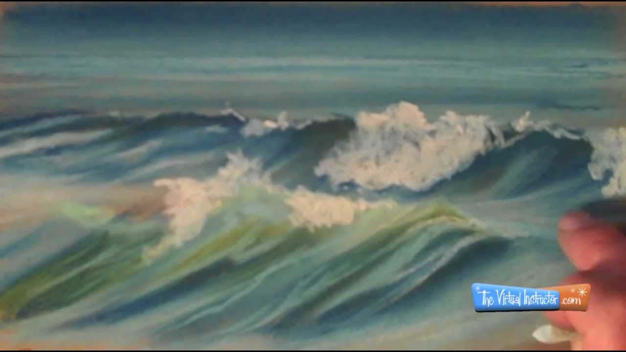 1280x720 How To Draw Waves With Chalk Pastels