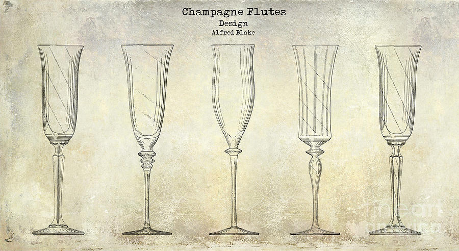 900x492 Champagne Flutes Design Patent Drawing Photograph By Jon Neidert