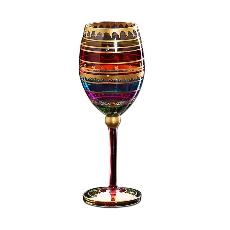 800x800 Colored Drawing Big Champagne Flute Glass Crystal Cup Red Wine