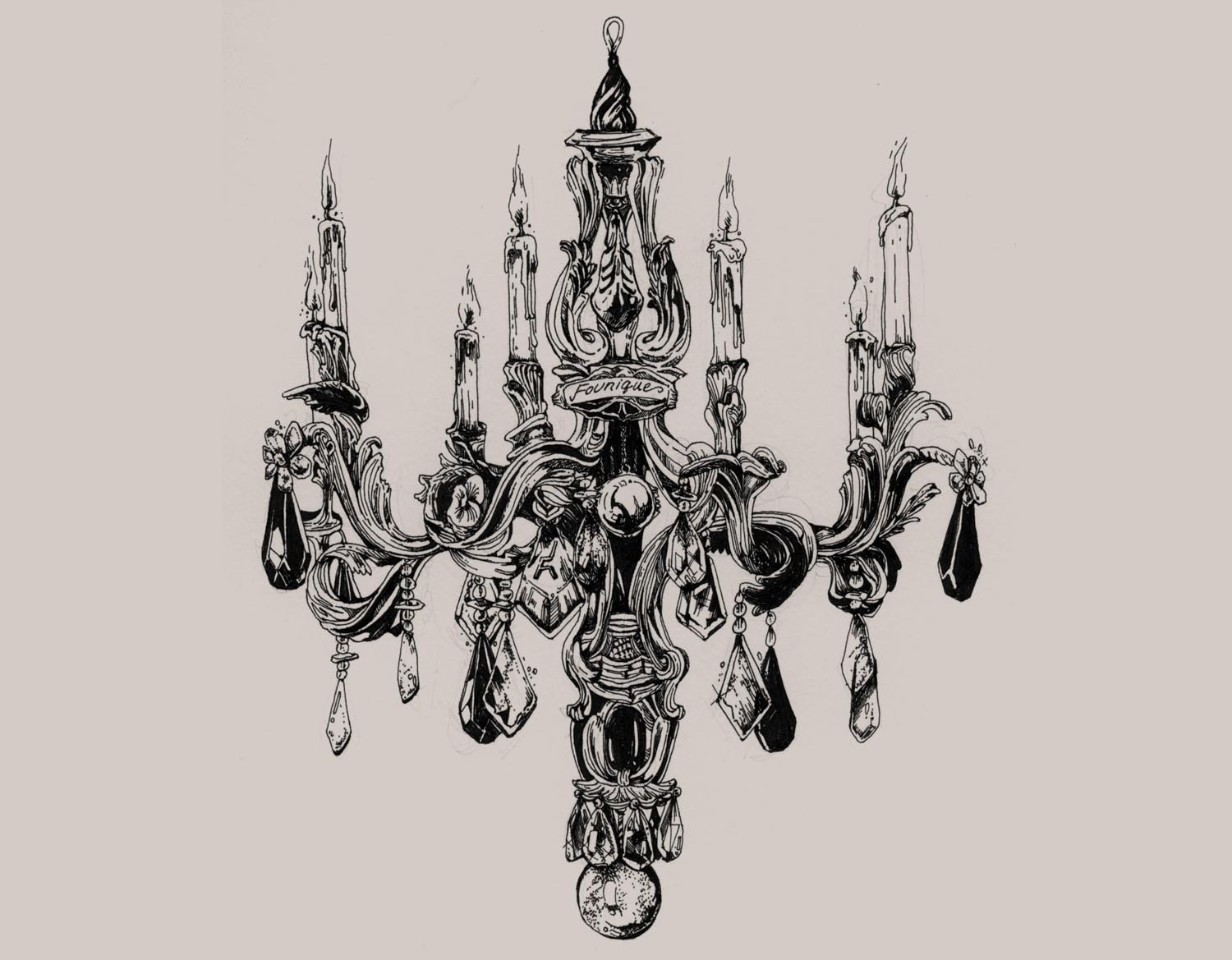 1500x1169 Chandelier Drawing For Founique. My Illustrations